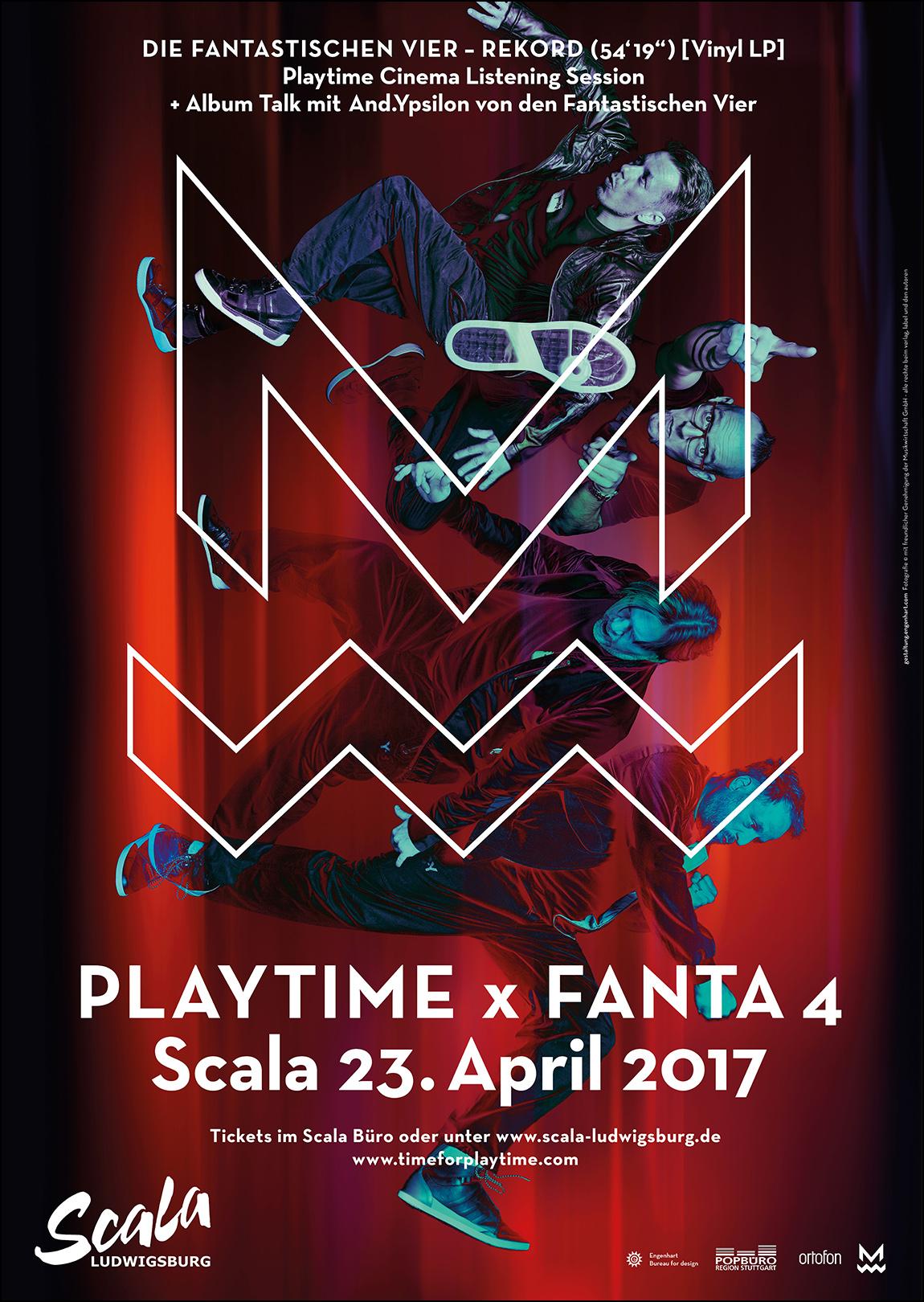 Die Fantastischen Vier Playtime Plakat Engenhart
